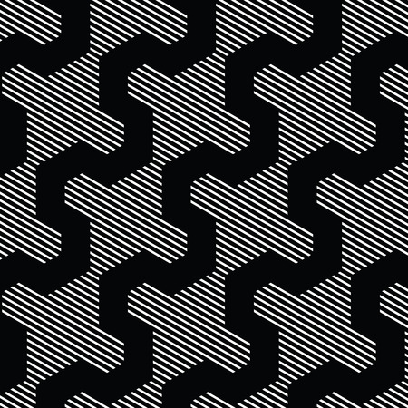 Black and white pattern, background line geometric. Illustration