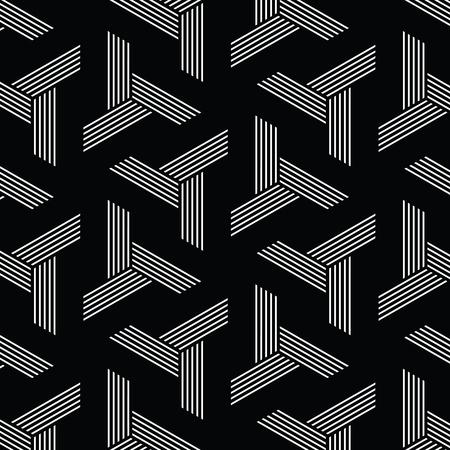 preto e branco padrão, linha de fundo geométrico, moderno stylish textura, vetor