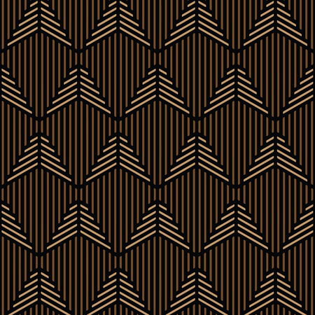 Black and brown geometric pattern abstract vector. Modern stylish texture.