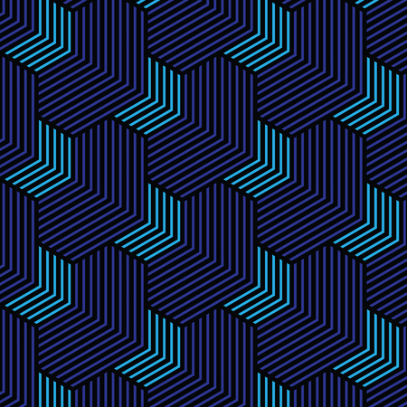 black and blue geometric pattern abstract vector background. Modern stylish texture. Illustration