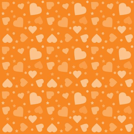 心とカラフルなパターン。バレンタインデーのグリーティングカードやギフト用紙の背景。ベクトルイラスト。