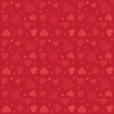 kleurrijk patroon met harten. Achtergrond voor Valentijnsdag wenskaarten en geschenken papieren. Vector illustratie.