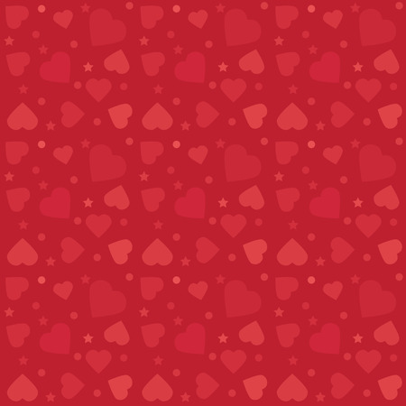 colorful pattern with hearts. Background for Valentines Day greetings cards and gifts papers. Vector illustration.