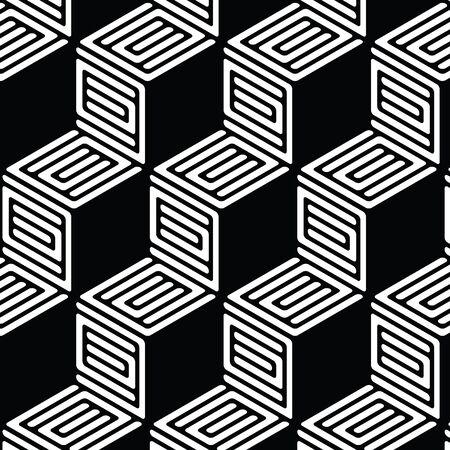 黒と白の幾何学的パターン抽象的なベクトルの背景。モダンなスタイリッシュな質感。