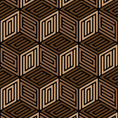 黒と茶色の幾何学的パターン抽象的なベクトルの背景。モダンなスタイリッシュな質感。