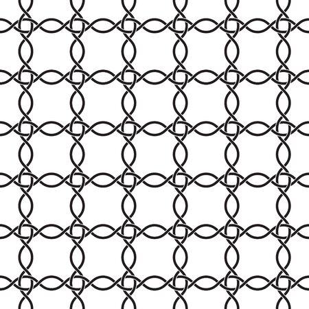 ベクトルシームレスパターン。モノクロトレリスでモダンなスタイリッシュな質感。  イラスト・ベクター素材