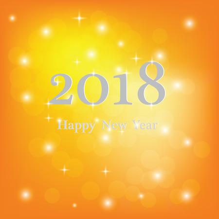 輝く星を持つ抽象的なぼやけたベクトルの背景。新年おめでとう2018年のテーマ。装飾祭り、マス、グラマーホリデー、照明、お祝いのために。ベク