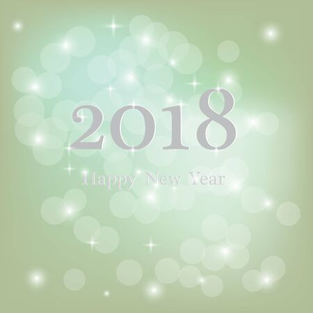 Abstract blurred vector background with sparkle stars. Happy New Year 2018 theme. For decorations festivals, xmas, glamour holiday, illuminated, celebration. Vector Illusztráció