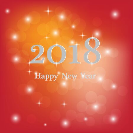 Abstract blurred vector background with sparkle stars. Happy New Year 2018 theme. For decorations festivals, xmas, glamour holiday, illuminated, celebration. Vector  イラスト・ベクター素材
