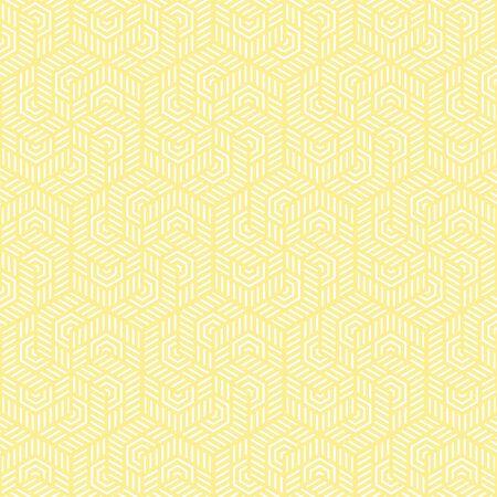 黄色と白のベクトルパターンクリスマスの背景。休日の抽象的なテクスチャ。