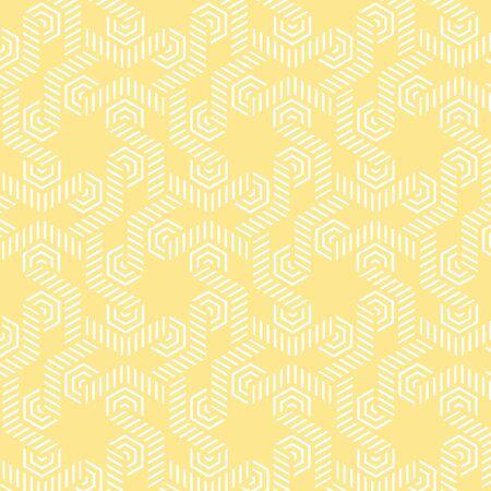 黄色と白のベクトル パターン クリスマス背景。休日の抽象的なテクスチャです。