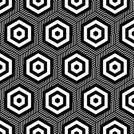 black and white Vector pattern Christmas background. Holiday abstract texture.