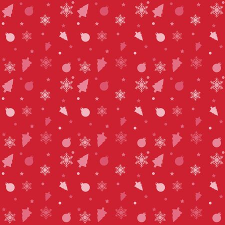 red and white Vector pattern Christmas background. Holiday abstract texture.  イラスト・ベクター素材
