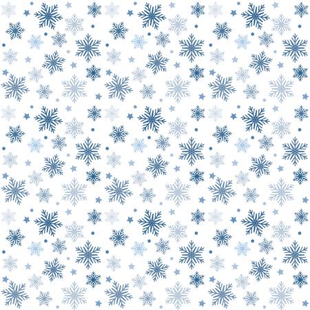 青と白のベクトルパターンクリスマスの背景。休日の抽象的なテクスチャ。