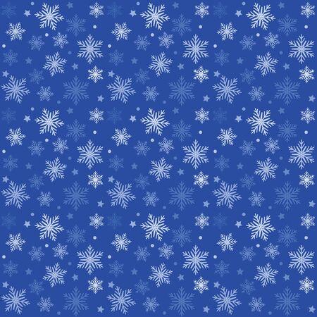 青し、白のパターン クリスマスのベクトルの背景。休日の抽象的なテクスチャです。