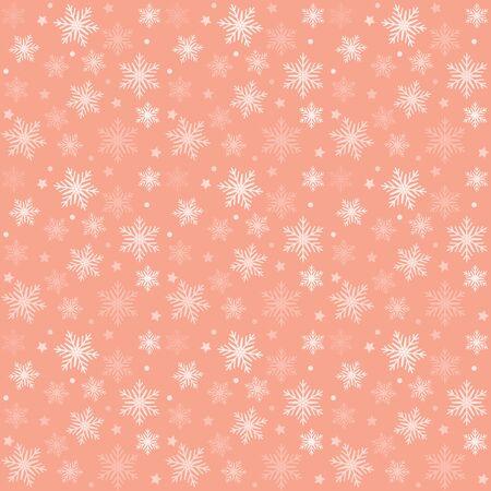ピンクし、白のパターン クリスマスのベクトルの背景。休日の抽象的なテクスチャです。