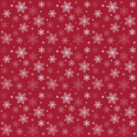 赤と白のベクトル パターン クリスマス背景。休日の抽象的なテクスチャです。