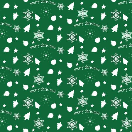 緑と白のベクトル パターン クリスマス背景。休日の抽象的なテクスチャです。