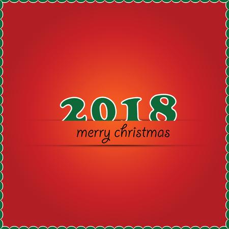 メリー クリスマス 2018 創造的なテキスト。ベクトル図 eps.10