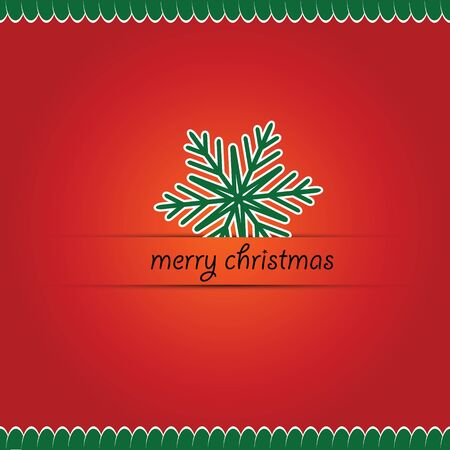 クリスマス イラスト カードのメリー クリスマスの文字。ベクトルの図。