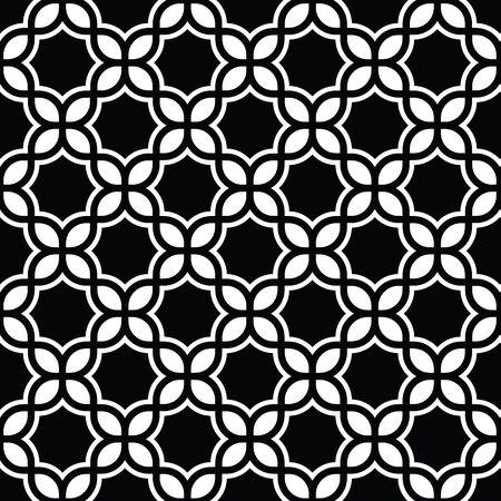 黒と白の幾何学模様の抽象的なベクトルの背景。スタイリッシュでモダンな生地です。