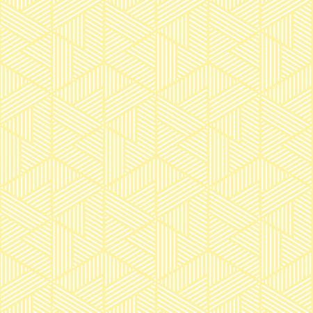 黄色と白の幾何学模様の抽象的なベクトルの背景。スタイリッシュでモダンな生地です。
