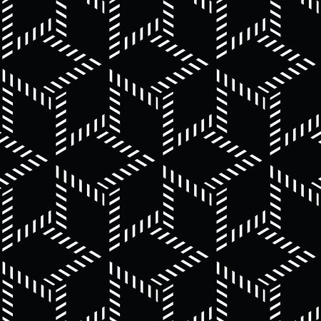 black and white geometric pattern abstract vector background. Modern stylish texture.  イラスト・ベクター素材
