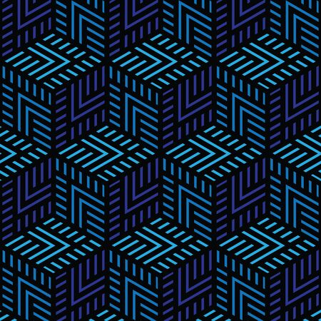 black and blue geometric pattern abstract vector background. Modern stylish texture.  イラスト・ベクター素材
