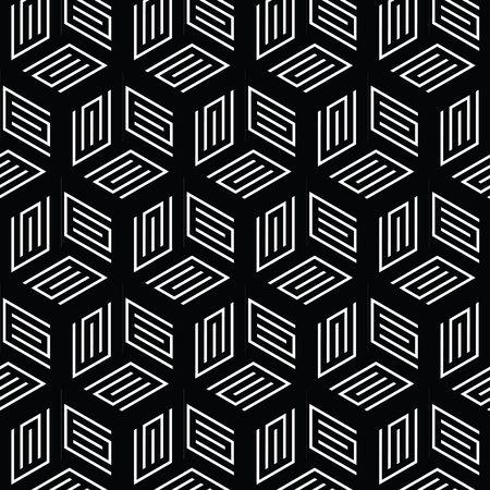 黒と白の幾何学模様の抽象的なベクトルの背景。スタイリッシュでモダンな生地です。 写真素材 - 90749737