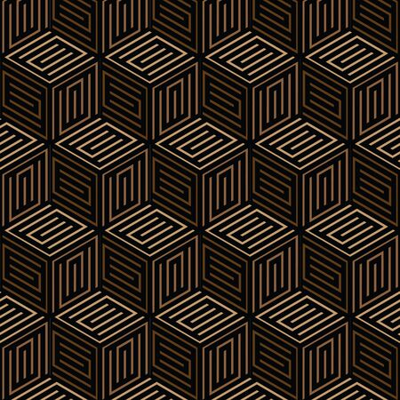 black and brown geometric pattern abstract vector background. Modern stylish texture.