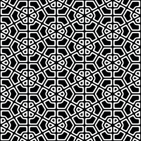 Black and white geometric pattern abstract vector background. Modern stylish texture. 写真素材 - 101281291