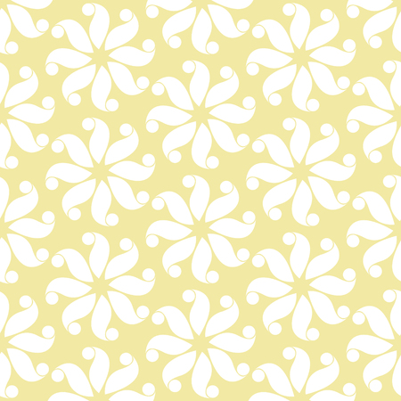 Yellow and white flower pattern abstract vector background. Modern stylish texture.