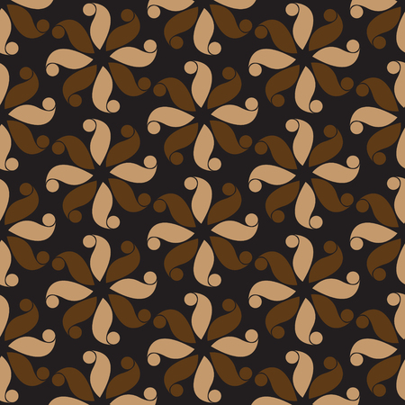 Black and brown flower pattern abstract vector background. Modern stylish texture.