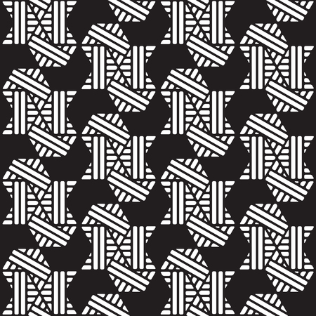 black and white geometric pattern abstract vector background. Modern stylish texture. 写真素材 - 102188745