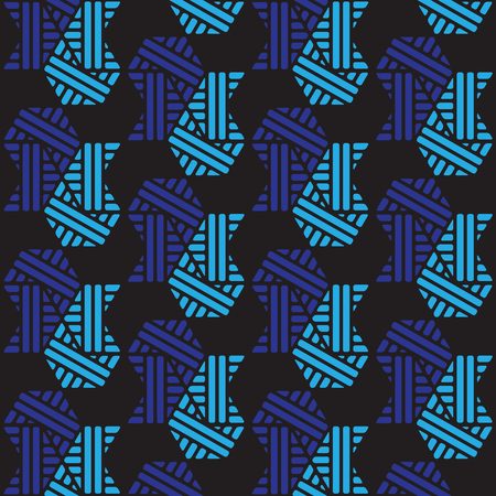 black and blue geometric pattern abstract vector background. Modern stylish texture.