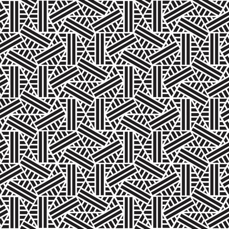 black and white geometric pattern abstract vector background. Modern stylish texture. 写真素材 - 102188746