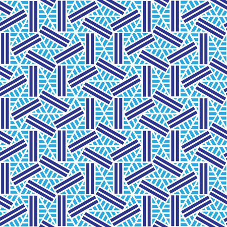 blue and white geometric pattern abstract vector background. Modern stylish texture.