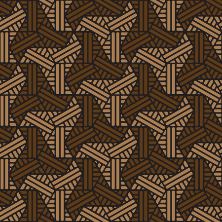 black and brown geometric pattern abstract vector background. Modern stylish texture.  イラスト・ベクター素材