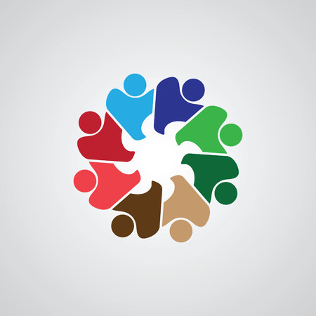 Teamwork Meeting 8. Abstract concept of a social network, friends, community, group of people, Corporate life, Business deal, 写真素材 - 101982582