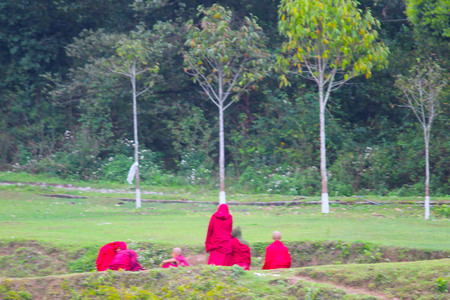 Buddhist monk and they set of protocol