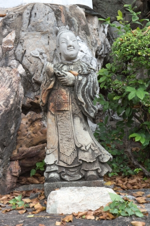 Chinese god stone sculptures in Thailand temple photo