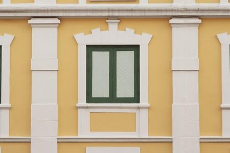 Thai old style classic window in Bangkok