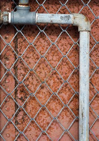 sheet iron: The wire mesh is in front of iron sheet.