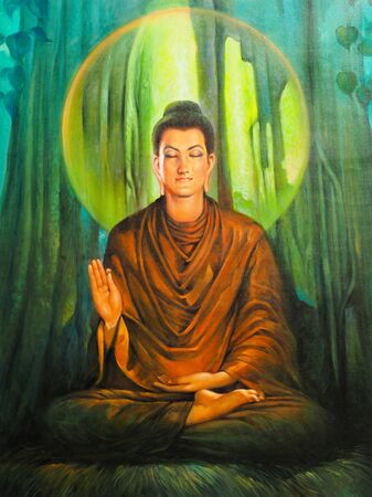The Buddha was discovered just the fairness of life. Banco de Imagens