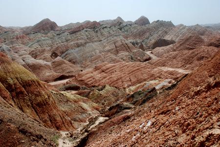 Zhangye Danxia Geological Park Фото со стока