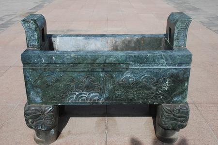 Incense burner in a temple