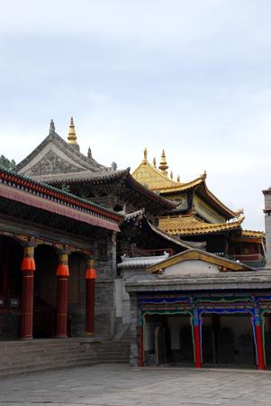 Taer Monastery landscape view Редакционное