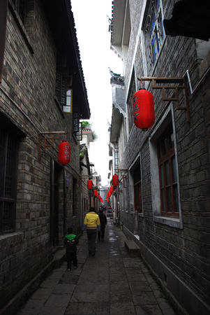 ancient alley at Fenghuang Ancient City