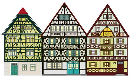 Traditional houses from the middle-age Stock Photo - 11732752