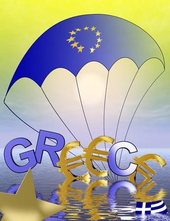 Greece: symbol for the current euro crisis Stock Photo - 11732748